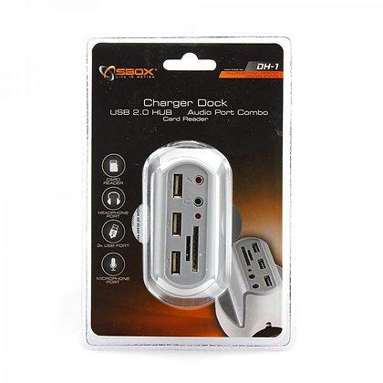 USB DESKTOP HUB SBOX DH-1 USB-2.0 x 3 + 3,5mm x 2