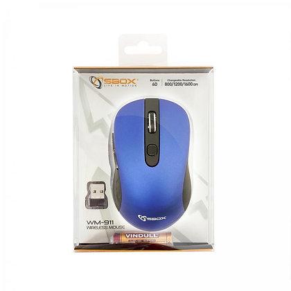 MOUSE SBOX WM-911 Blue/ Wireless