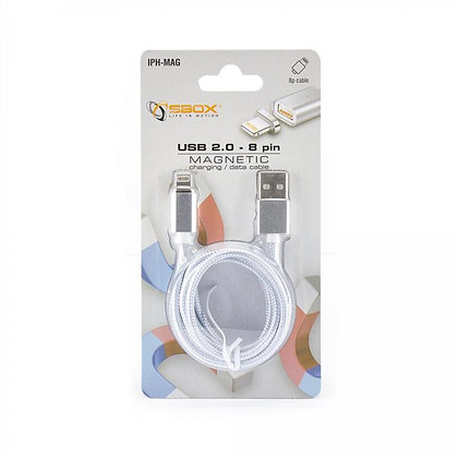 CABLE SBOX MAGNETIC USB - iPH. 8 pin M/M 1,5M