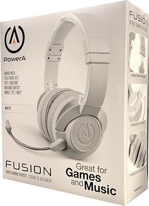POWER A FUSION WIRED GAMING HEADSET WHITE (PS4 / XBONE / SWITCH / PC)