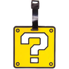 Super Mario Question Block Luggage Tag