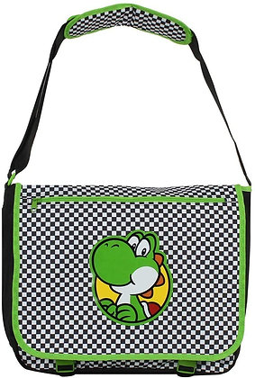Bioworld Nintendo Super Mario Bros. Yoshi Chequered, Messenger Bag