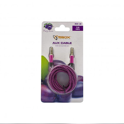 CABLE SBOX 3,5-3,5mm M/M 1,5M Fruity Blister Purple