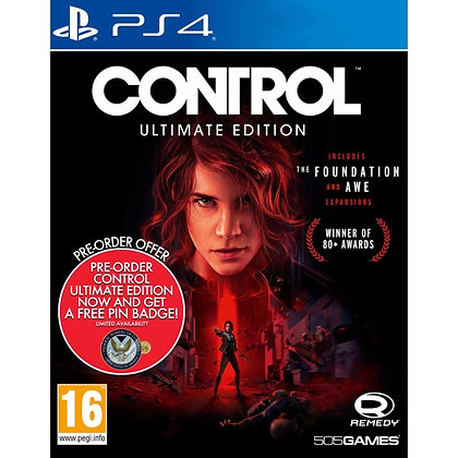 Control Ultimate Edition PS4 Game (Free Pin Badge)