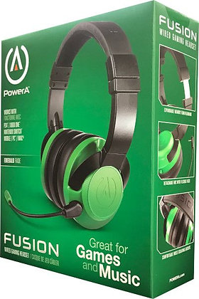POWER A FUSION WIRED GAMING HEADSET EMERALD FADE (PS4 / XBONE / SWITCH / PC)
