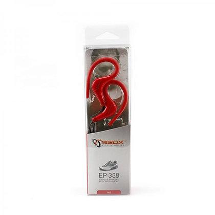 Sport: Earphones + Microphone EP-338 RED
