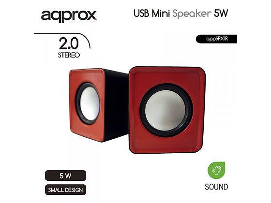 Approx USB Mini Speakers 5W 2.0 Stereo
