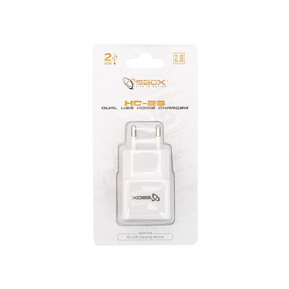 Sbox USB HOME CHARGER SBOX HC-23 /2 INPUTS 90