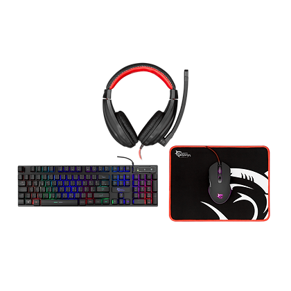 White Shark KEYBOARD + MOUSE + MOUSE PAD + HEADSET GC-4102 COMANCHE-2 - 4in1