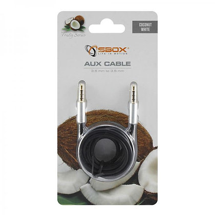 CABLE SBOX 3,5-3,5mm M/M 1,5M Fruity Blister White