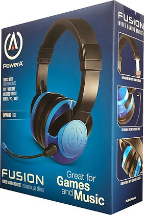 POWER A FUSION WIRED GAMING HEADSET SAPPHIRE FADE (PS4 / XBONE / SWITCH / PC)