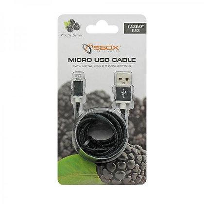 CABLE SBOX USB->MICRO USB M/M 1,5M Blister Black