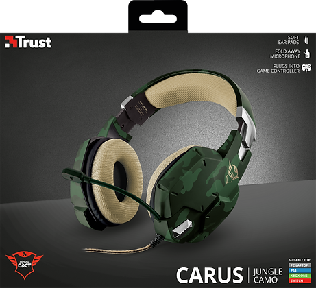 GXT 322C Carus Gaming Headset - jungle camo