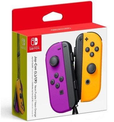 Joy-Con Controllers Purple with Neon Orange