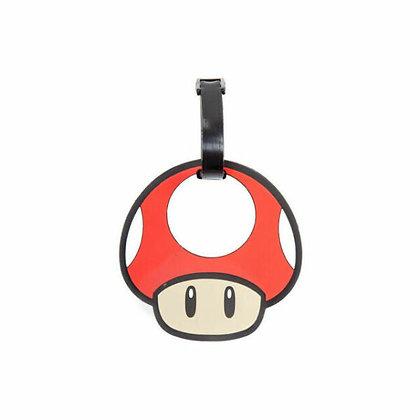 Super Mario Mushroom Luggage Tag