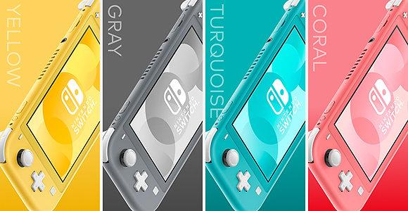Nintendo switch lite (BLUE,YELLOW,GREY,PINK) + free screen protector