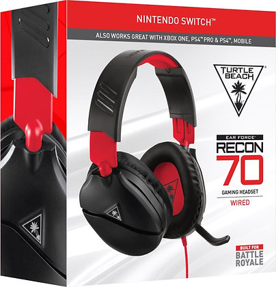 Recon 70 Wired Stereo Gaming Headset Red & Black Turtle Beach Nintendo Switch