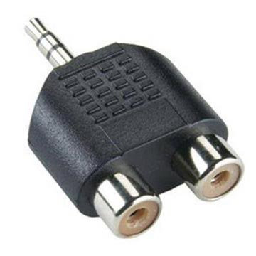 ADAPTER SBOX 3,5mm M.->2 X RCA F.