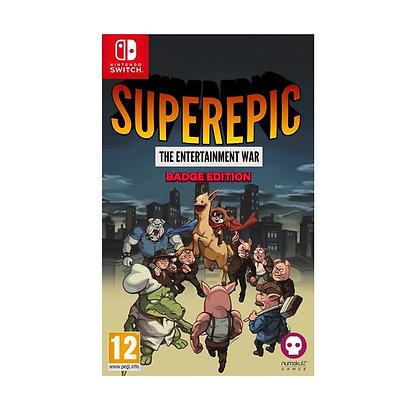 SuperEpic The Entertainment War Badge Collector's Edition Nintendo