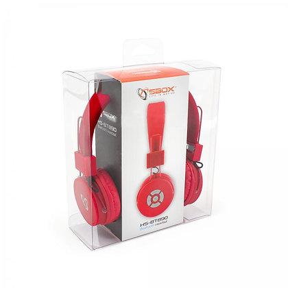 HEADSET SBOX Bluetooth HS-BT890 Red