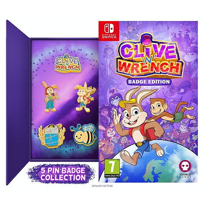 Clive 'n' Wrench Badge Collector's Edition Nintendo Switch Game