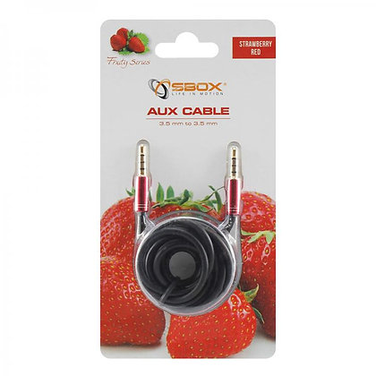 CABEL SBOX 3,5-3,5mm M/M 1,5M Fruity Blister Red