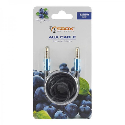 CABEL SBOX 3,5-3,5mm M/M 1,5M Fruity Blister Blue