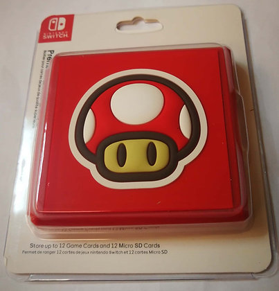 12 Slots Game Card Cartridge Storage Case Box Super Mario Toad