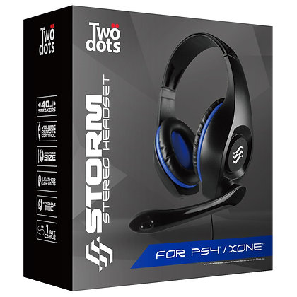 Two Dots Storm Headset For PS4/ XBOX ONE/ SWITCH Blue