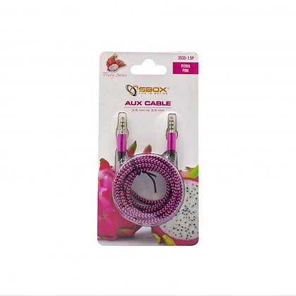 CABLE SBOX 3,5-3,5mm M/M 1,5M Fruity Blister Pink