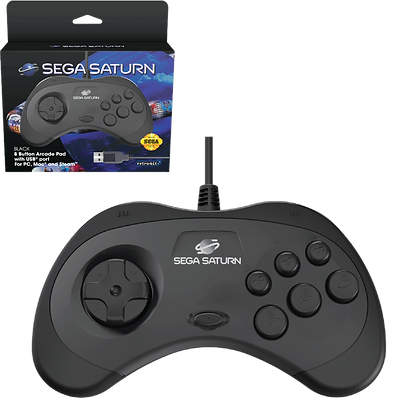 SEGA Saturn 8-button Arcade Pad - USB®