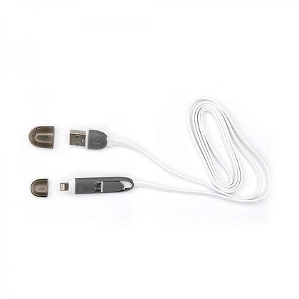 CABLE SBOX USB->MICRO USB + IPH.5 M/M 1,5M white