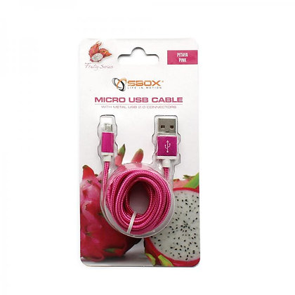 CABLE SBOX USB->MICRO USB M/M 1,5M Blister Pink