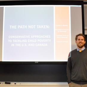"""Prof. Joshua McCabe Presents """"Tackling Child Poverty"""" Policy Lecture"""