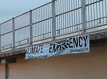 #ShutDownDC Drops Climate Emergency Banners From Dozens of Area Overpasses-Will Hit Streets Again