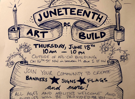 Juneteenth DC Art Build