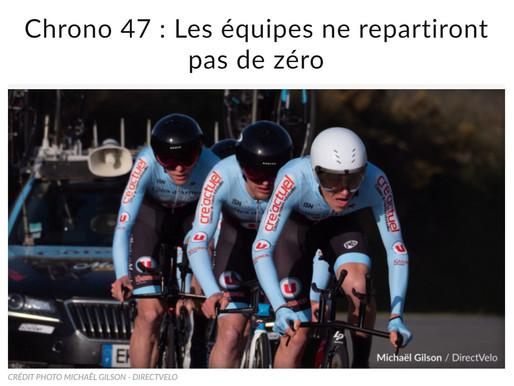 La préparation des équipes cyclistes pour le Chrono 47