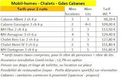 Tarifs locations Chrono47