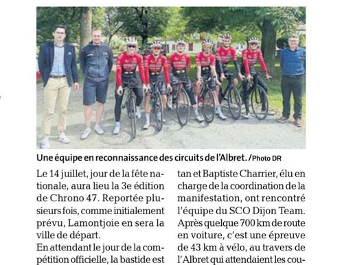 SCO Dijon en reconnaissance