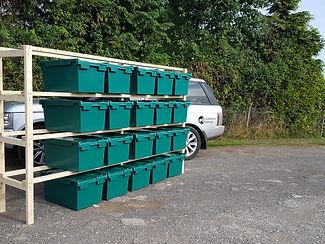 Box storage shelves