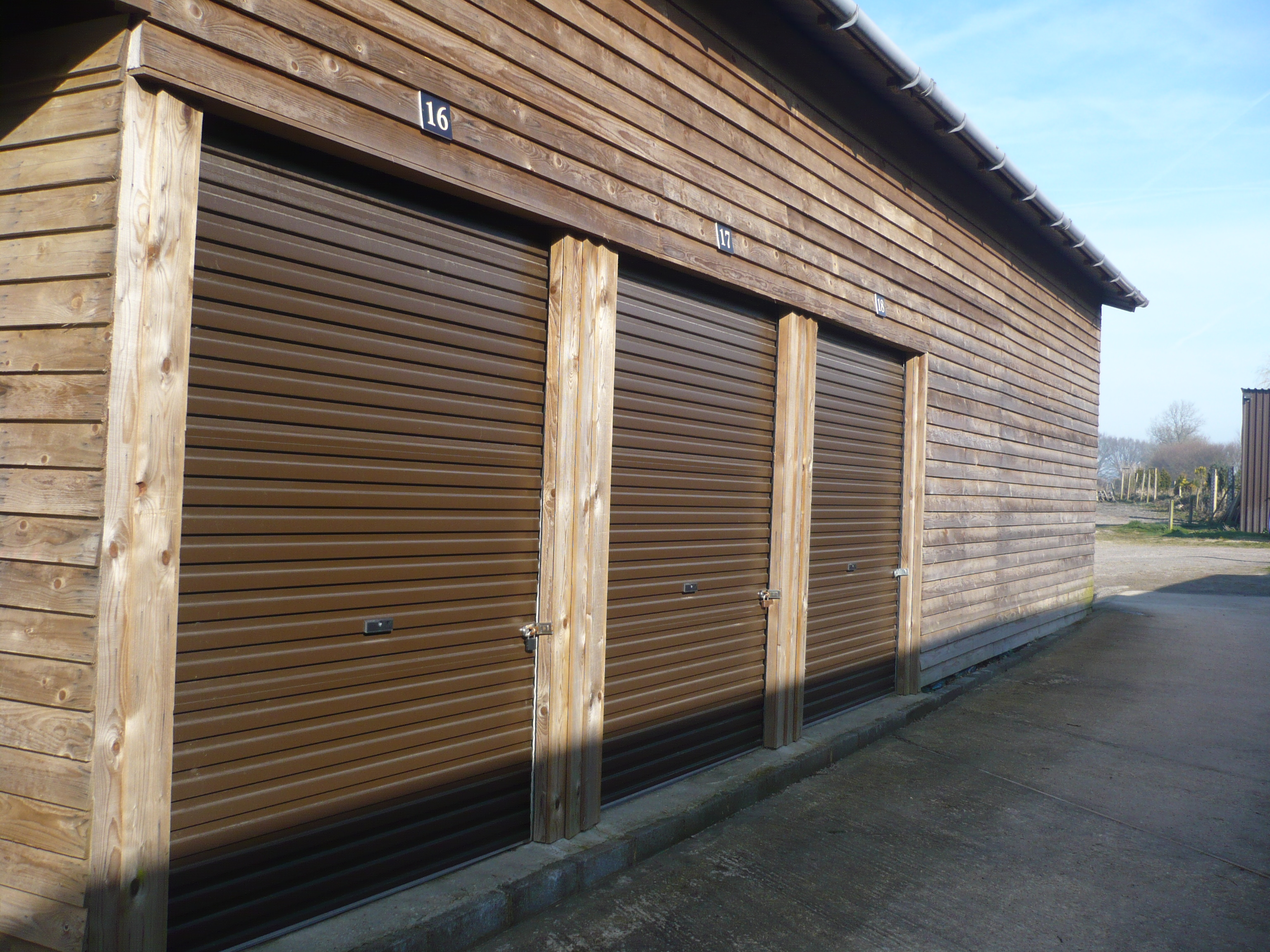 7 x 10 Storage Unit Outside