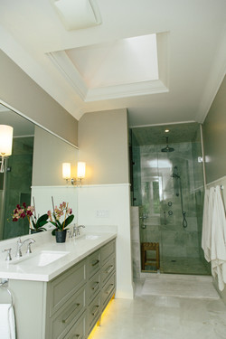 vanity and shower