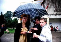 2000 Dzimsanas dienas berns Aija Zandberga, Viktorija un Mikelis Zandbergi