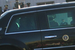 President Obama Waving to ME!