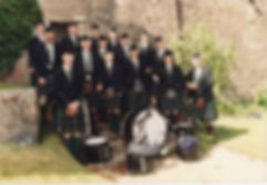 Arran Pipe Band at the Castle in 2004