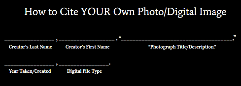 How to cite your own digital image hs ed