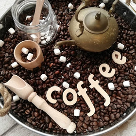 Coffee Bean Sensory Tray