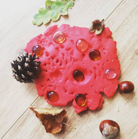 Natural Playdough Printing