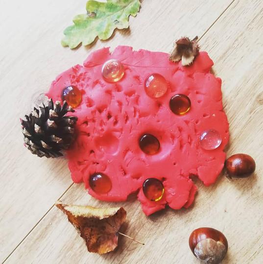 Natural Playdough Printing