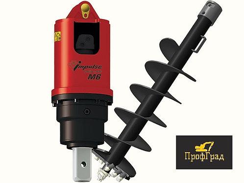 Гидробур Impulse М6 на экскаватор-погрузчик